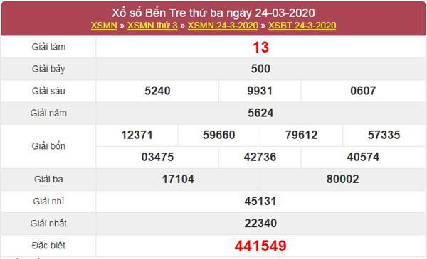 Soi cầu số đẹp Bến Tre 31/3/2020 (Thứ 3 ngày 31/3/2020)