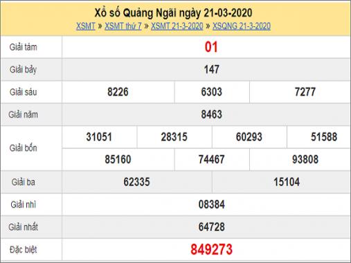 Soi cầu xổ số Quảng Ngãi 28/3/2020, chốt số tỷ lệ trúng lớn