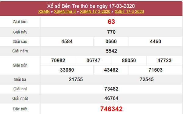 Soi cầu XSBTR 24/3/2020 - Soi cầu KQXS Bến Tre thứ 3
