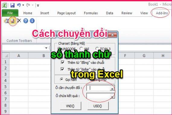 Đổi số thành chữ trong Excel đơn giản ở tất cả các phiên bản 2003 đến 2016