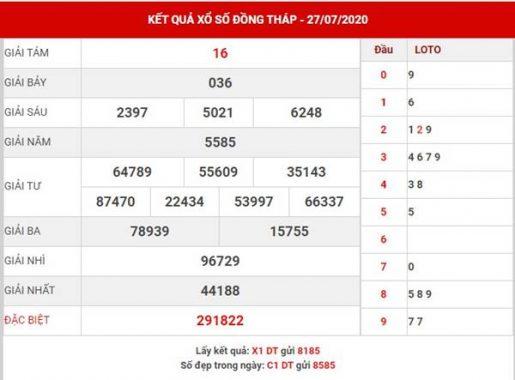 Soi cầu số đẹp SX Đồng Tháp thứ 2 ngày 3-8-2020