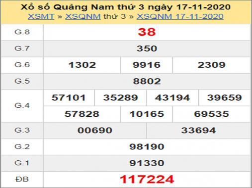Soi cầu XSQNM 24/11/2020, soi cầu xổ số Quảng Nam hôm nay