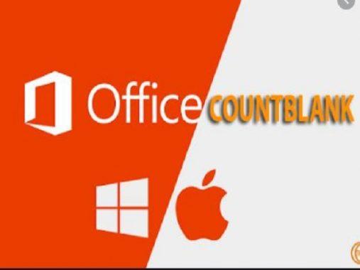 Hàm countblank trong Excel có cú pháp là gì?