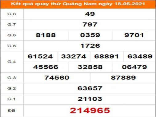 Soi cầu XSQNM 18/5/2021 – Soi cầu kết quả xổ số Quảng Nam thứ 3