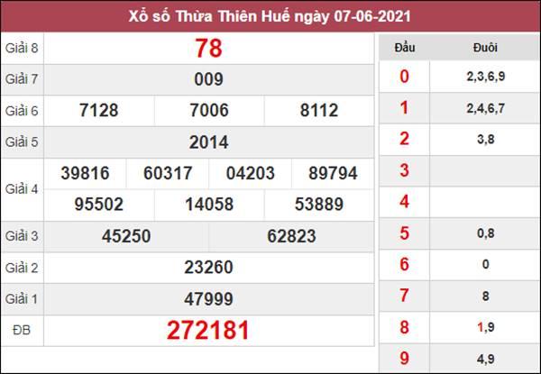 Soi cầu XSTTH 14/6/2021 xin số đề Thừa Thiên Huế thứ 2